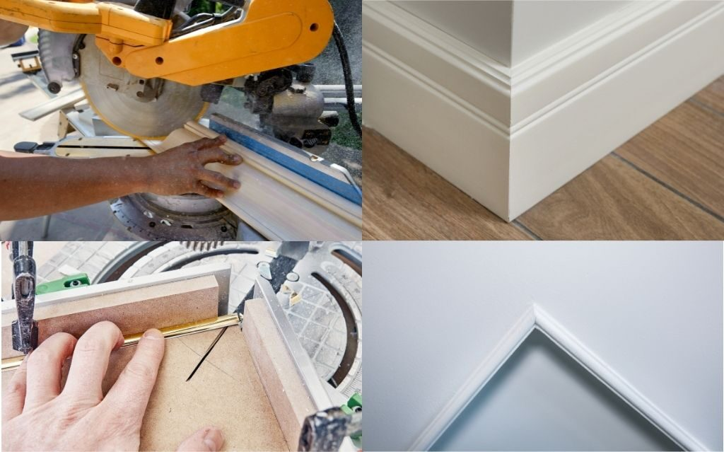 how to cut baseboard outside corners with miter saw